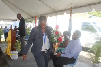 "Describing Ms Lorna Stephens as an employee like none other he has ever seen while working in the public and private sector Hon Walwyn said, ""Those who have ears let them hear that Lorna needs a promotion."