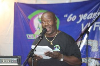 VI Festival and Fairs Committee Chairman Marvin 'MB' Blyden expressed gratitude to the many contributors to the proceedings while touting the cost effectiveness of this year's Festival celebrations. Photo: VINO