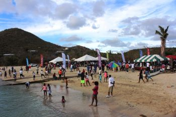 Scores of persons came out to support the last event, the Beach picnic and fun day at the VG Easter Festival on April 2, 2018. Photo: VINO