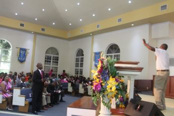 At the New Life Baptist Church on Sunday October 25, 2014 the service was one of refreshing, in the sense of people of all walks of life, good or bad, ill will or otherwise found the time to come together and embrace the spiritual side of their being. Photo: VINO