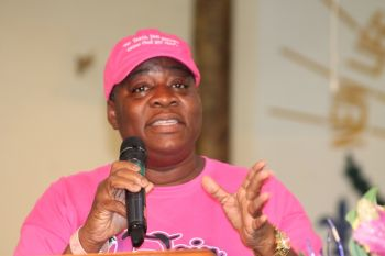 Ms Fahie very emotionally appealed for support for persons and the BVI Cancer Society. She was very clear that in as much as they need lots of money to support persons fighting the disease there is a big need for moral support. She also told of the prevalence of breast cancer which they have found to be steadily rising in the VI as of every 10 cases that approach the society 8 are for breast cancer. Photo: VINO