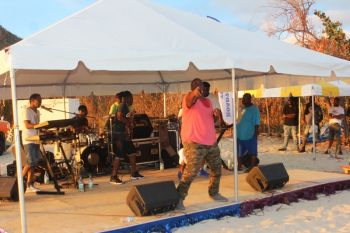 OMG Band closing out the VG Easter Festival Beach Picnic and Fun Day. Photo: VINO