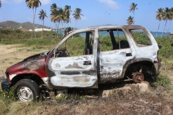 Another view of the burnt out vehicle. Photo: VINO