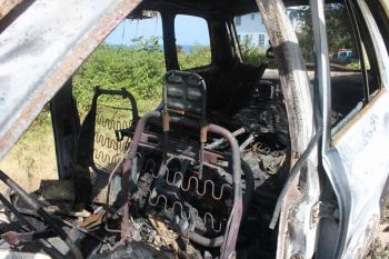A close up of the burnt vehicle. Photo: VINO