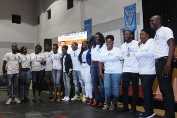 Stephon D. Mactavious (far left), President of the Dream Big along with his group members stated that the Dream Big Group was created to empower the entire territory and the wider world. Photo: VINO