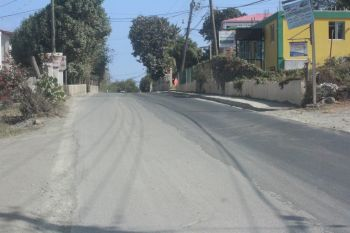 A section of the completed road works in East End. Photo: VINO