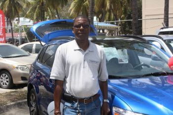 Speaking at the event, sales manager for International Motors, Kazim Prescott said it has been very busy compared to the other car sales from before. Photo: VINO