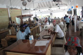 Scene from the newly rebuilt Pirates Bight Restaurant and Bar which resumed services on April 2, 2014. Photo: VINO