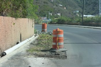 Another section of the road in the Third District that Hon. Julian Fraser RA is displeased about. Photo: VINO