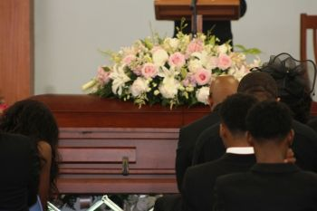 More scenes from the funeral service on Monday, April 30, 2018. Photo: VINO
