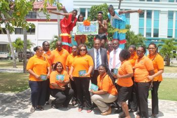 Staff from the DMV from across the Territory were commended for their togetherness and show of support for the initiative taken by Mr Rymer. Photo: VINO