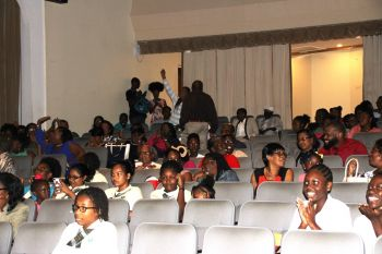 Members of the audience at the Ministry of Education and Culture Inter-Secondary Schools' Debate 2017 preliminary round competition at Eileene L. Parsons Auditorium, H. Lavity Stoutt Community College in Paraquita Bay on Monday January 30, 2017. Photo: VINO