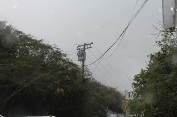 Several residents from Prospect Reef to McNamara are without electricity after some four utility poles and several wires came crashing down at Prospect Reef in an accident. Photo: VINO