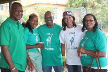 From left to right are VIP picks for the Sixth District Elvis 'Juggy' Harrigan, Fifth District Zoe J. Walcott-McMillan, Territorial candidate Dr Karl Dawson, Fourth District candidate JoAnn Roxie Romney and Territorial candidate Irene Penn-O'Neal. Photo: VINO