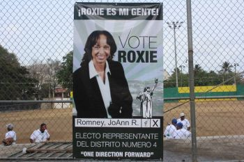 A JoAnn Roxie Romney poster. Photo: VINO