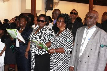 Some of the family members of the late Bryan Malone at his funeral service today February 9, 2013 at Road Town Methodist Church. Photo: VINO