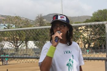 Virgin Islands Party (VIP) candidate for District Four JoAnn 'Roxie' Romney yesterday May 10, 2015 kicked her campaign into high gear with an appeal to the Latino community of the Virgin Islands for her election so that she can address the many ills that plague the district. Photo: VINO