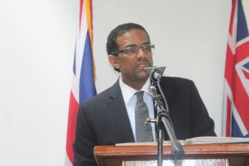 Deputy Premier and Minister for Natural Resources and Labour Dr the Honourable Kedrick D. Pickering there are plans afoot to have an education drive to ensure persons of all levels are educated acknowledging that there are growing pains. Photo: VINO