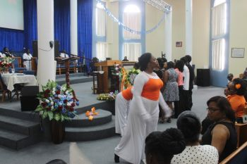 Thanksgiving service for Shaheem H. A. Richards held at the Upper Room Victory Church, Little Dix Hill, East End, Tortola, June 21, 2014. Photo: VINO