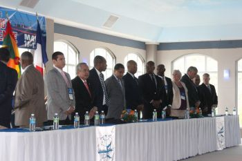 The headtable of the Caribbean Shipping Association's 14th Annual Conference held at UPs Cineplex. Photo: VINO/File