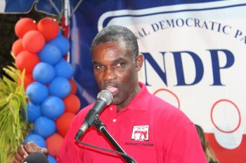 Hon Archibald C. Christian defended his government's awarding of the contract, saying that the contractor has also been employing residents of Jost Van Dyke. Photo: VINO