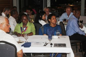 Members of the Rotary Club of Road Town turned out in their numbers to support the special weekly dinner, which featured a Youth Forum in observance of Youth Service Month. Photo: VINO