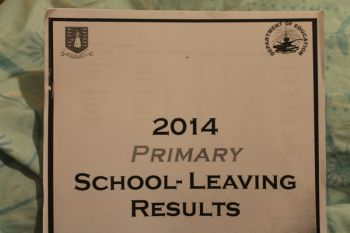 According to a document seen by this news site bearing the detailed statistics of the results of the 2014 Primary School Leaving Examinations only eight primary schools can boast of having 100% pass rate. Photo: VINO