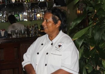 Evelyn Wong-Dawson, owner of D'CoalPot BVI Restaurant Bar and Grill, expressed that in order for the territory to get back on its feet, everyone should help in anyway that they can. Photo: VINO
