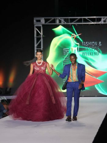 Virgin Islands' (VI) very own Akeem Stanley, showcased stunning dresses that had the patrons in amazement. Photo: VINO