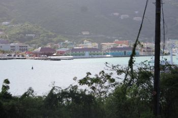 A view of the Tortola Pier Park Project from the Fort Hill area. Photo: VINO