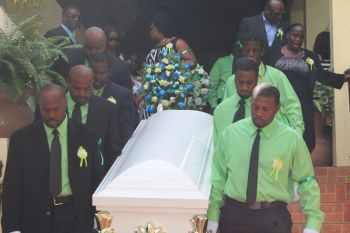 The funeral of the late David N. James aka 'Bush' was held at the Road Town Methodist Church on December 29, 2015. Photo: VINO