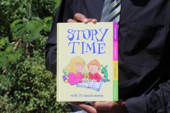 One of the books read to the students at the school as part of Reading is Fun Week observances. Photo: VINO