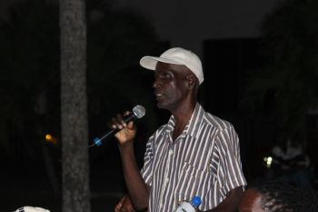 """One taxi driver, Clinton, said he listened to Hon. Vanterpool and heard the same old stories as years before, """"I want to know how long, how long the politicians will keep telling the people of this BVI lies and trying to put all kind of blindfolds on top of our eyes?"""" he asked. Photo: VINO"""