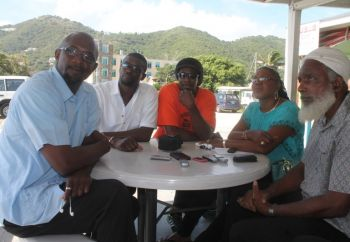 Members from several taxi Associations across the VI were present at this morning's interaction with the media. Photo: VINO