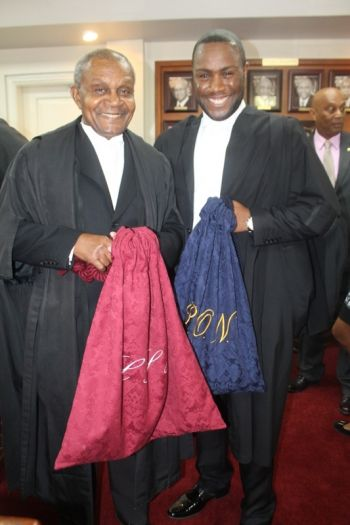 Mr Lewis S. Hunte QC told him to see this step in his life not as the end of an innings but as the beginning of a new game. Photo: VINO