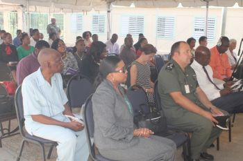 As families, relatives, friends and otherwise concerned persons gathered for the graduation ceremony of a group of inmates at Her Majesty's Prison rehabilitation programmes, they heard that there are many not in prison but have the same problems like the inmates. Photo: VINO