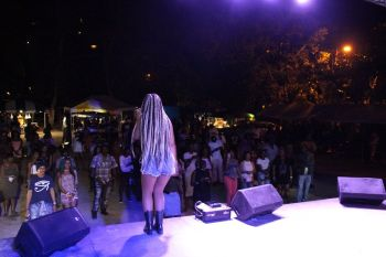 Night two of the BVI Spring Fest was dubbed '90s Throw Back night' and saw four major artists rocking the modest crowd at Cane Garden Bay. Photo: VINO