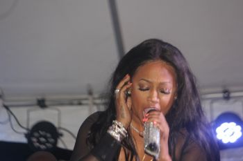Following Showtime Band's performance, it was time for Trina. After about 10 or 15 minutes of the DJ spinning tracks for the crowds it was time for 'The baddest b*tch in the business' as she was introduced. Photo: VINO