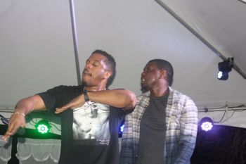 After Trina ended her brief performance, it was time for the headline acts Timothy and Theron Thomas – better known as R-City. Photo: VINO
