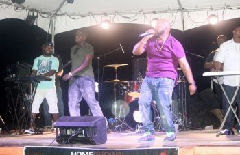 Poizon Band on stage as the opening act for the second night of BVI Spring Fest. Photo: VINO