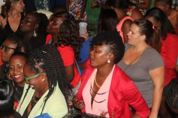 A section of the crowd jamming to Tarrus Riley. Photo: VINO