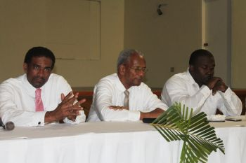 The proposal to construct an international stadium in the East End/Long Look area is said to be the baby of Representative for the Eighth District, Honourable Marlon A. Penn. Major funding for the project will be coming from FIFA in partnership with the Government of the Virgin Islands. Photo: VINO