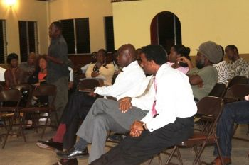Community members were very vocal at the community meeting last night October 30, 2013. Photo: VINO