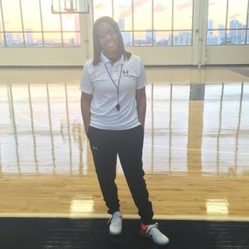 Young Professional and Virgin Islander Michelle J. Smith wishes to one day coach at the college or professional level. Photo: Provided