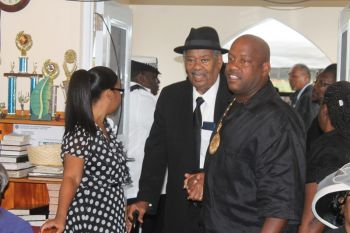 Politicians and other recognized leaders of the Virgin Islands were present at funeral of Mr Reeial A. George. Photo: VINO