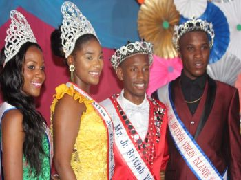 From left: Dje'Moyia Smith, Miss Junior BVI 2016, Anondah M. Hodge, Miss Junior BVI 2017, Yohance T. Smith, Mr Junior BVI 2017 and Shemar Trim Mr Junior BVI 2016 after the crowning of the 2017/18 Mr and Miss Junior BVI. Photo: VINO