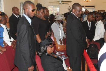 Scene from the funeral of Mr Reeial A. George, November 2, 2013. Photo:VINO