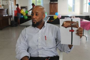 BVI Tourist Board Events Marketing Manager, Mr Rhodni A. Skelton said that BVITB is involved in many promotional activities and initiatives for the Lobster Festival this year. Photo: VINO
