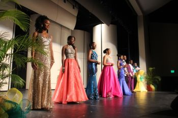 The Miss Junior BVI contestants on stage on July 10, 2016. Photo: VINO