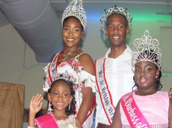 Top left: Miss Junior BVI 2017/18, Anondah M. Hodge; bottom left: Tiny Duchess of the East 2017/18, Amiah E. Stout; Top right: Mr Junior BVI 2017/18, Yohance T. Smith and bottom right: Sheniyah V.E. Freeman, 2017 Jr. Duchess of the East. Photo: VINO